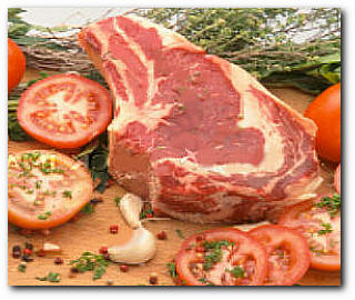 A fine chine of rib of beef to roast